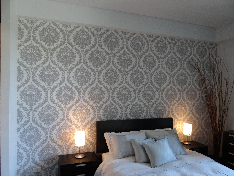 Elegant Bedroom Wallpaper Installation by Sydney