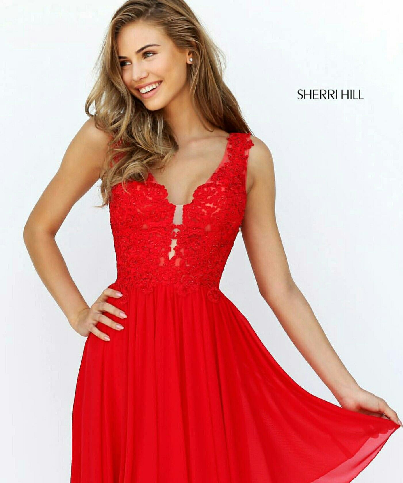 Bright Red Prom Dress Prom Pinterest Prom And Bright