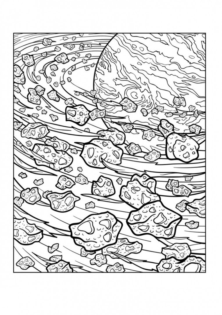 Coloringsco Space Coloring Pages For