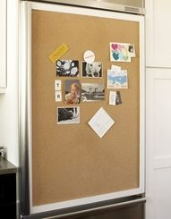 If you have a big scratch on your door, add a bulletin board (fridge door must be flat, not rounded)