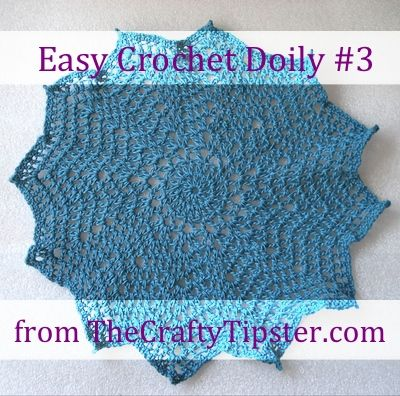 The 12 point doily pattern is another in my series of easy crochet ...