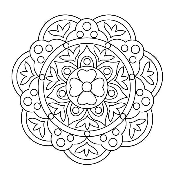 Handwriting Courtyard Floor Design Rangoli Coloring Page Netart