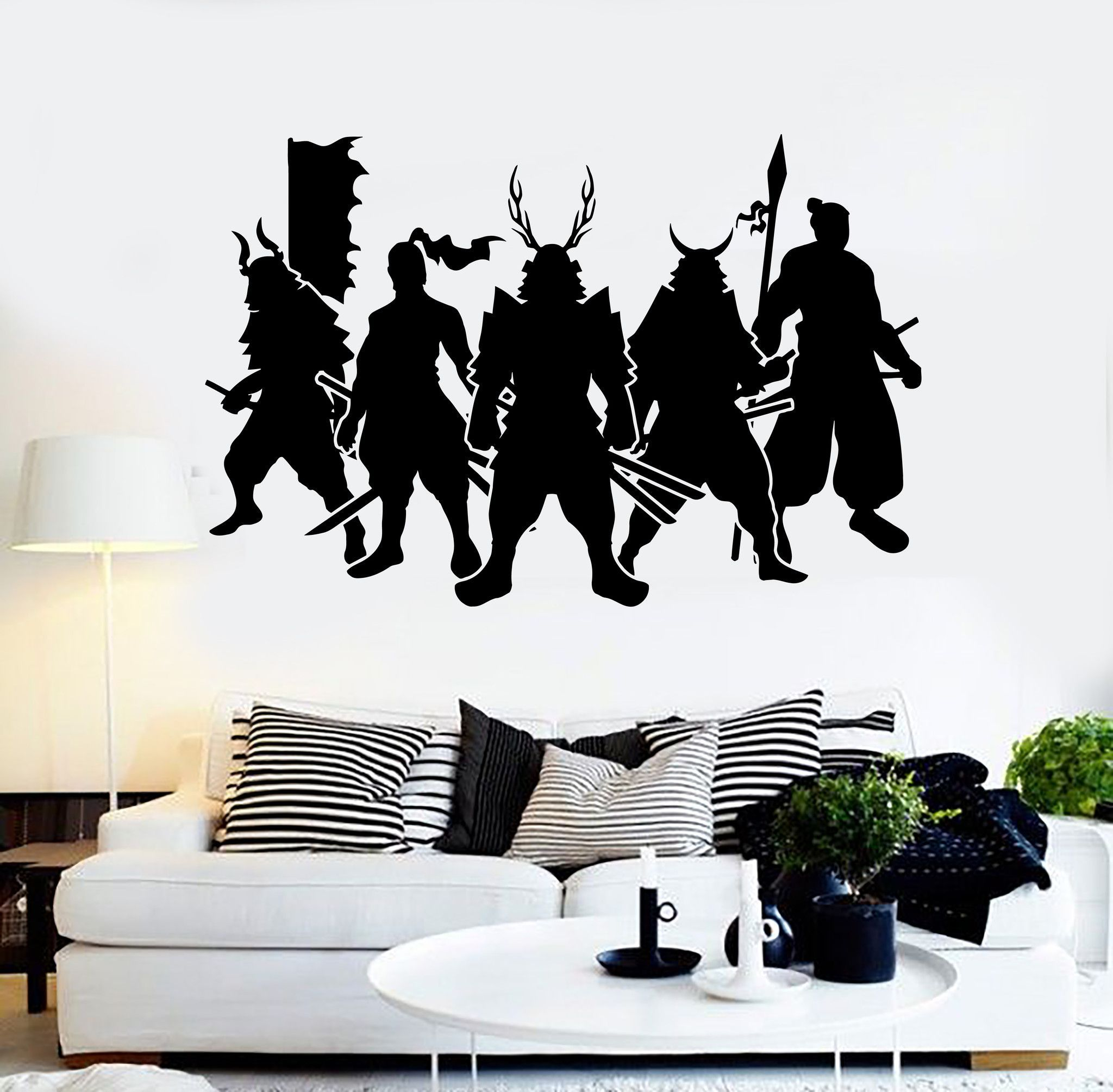 Vinyl Wall Decal Samurai Warriors Japan Art Japanese Stickers - Wall stickers decalswall decal wikipedia