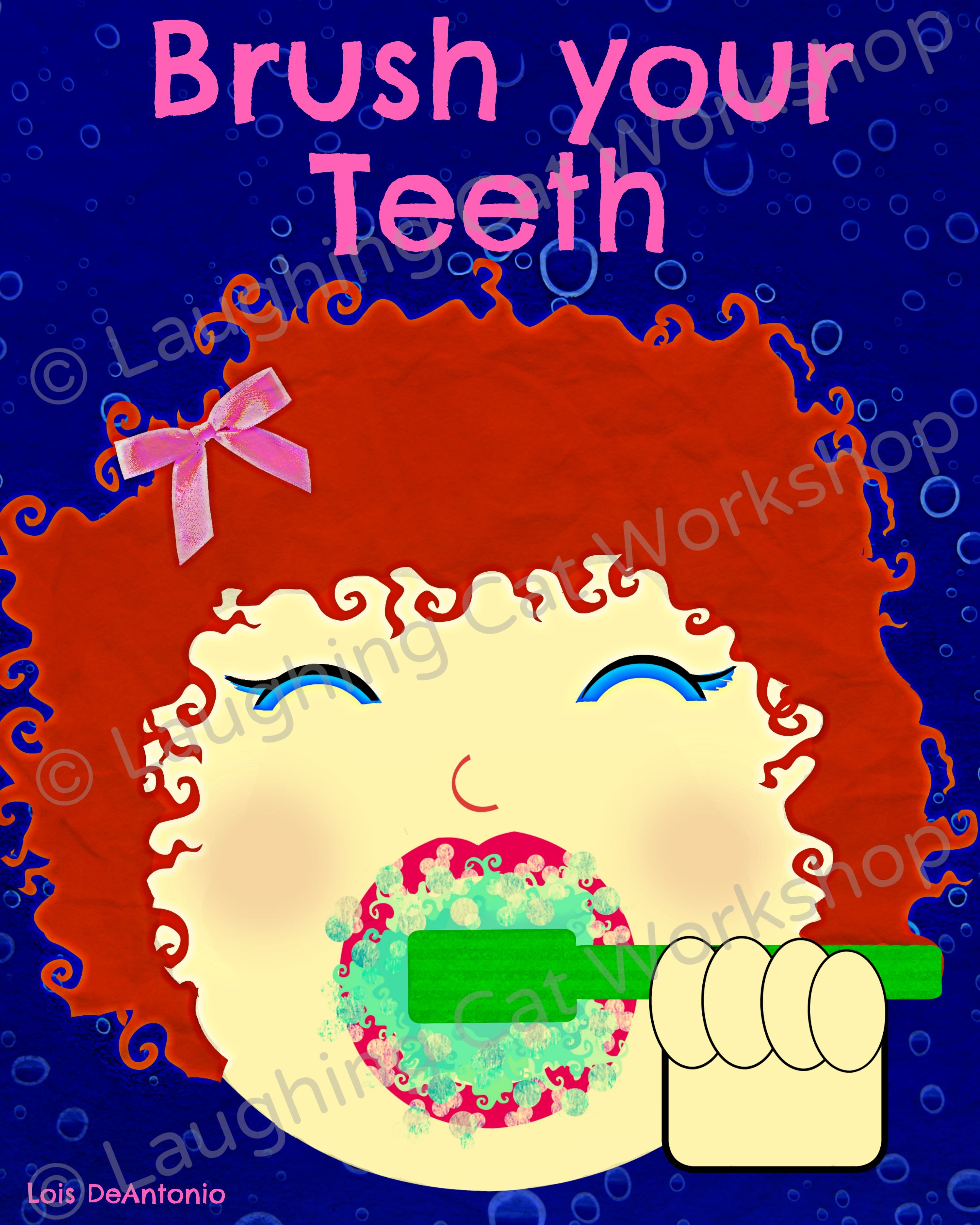 Funny kid bathroom art Dentist wall decor dentist gift Brush Your ...