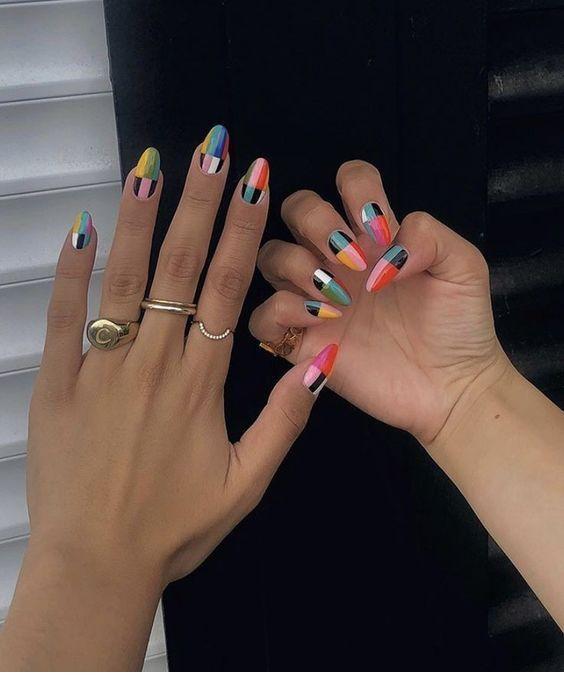 Stunning Nail Colors Design Chicladies Uk In 2020 Retro Nails Fire Nails Cute Acrylic Nails