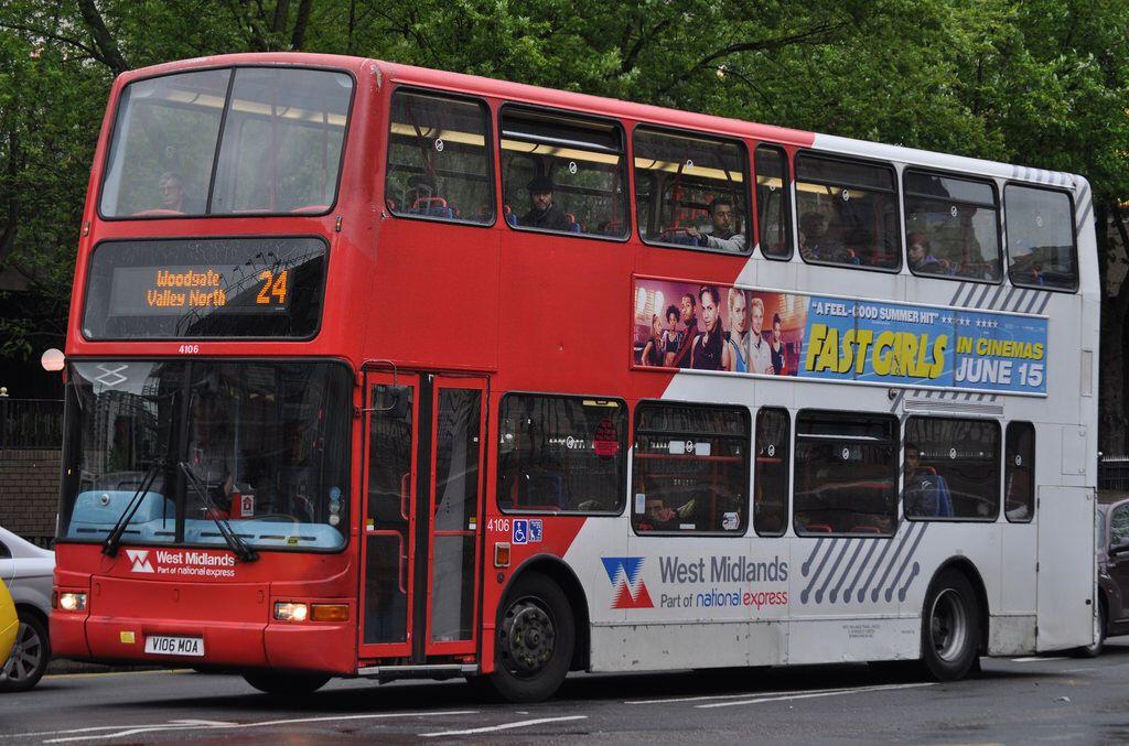 National Express West Midlands 4106 V106 Moa City West