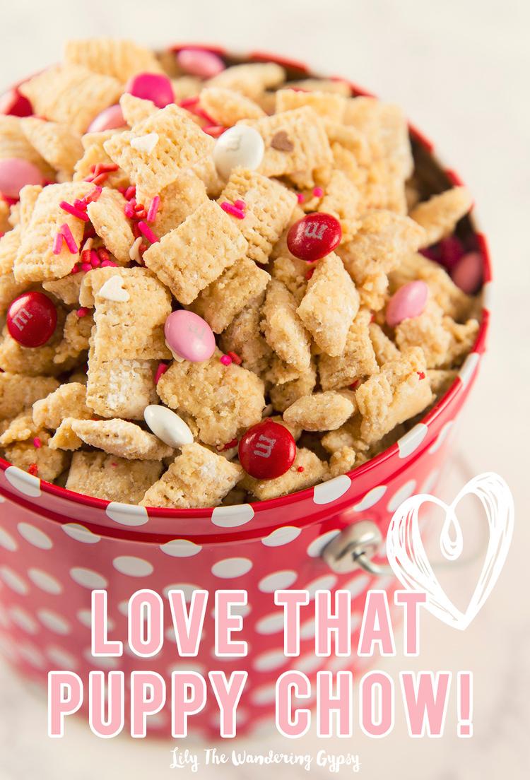 Peanut Butter Chocolate Valentine S Day Puppy Chow Recipe In 2020 Puppy Chow Recipes Puppy Chow Recipes