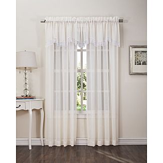 Colormate Parker 52in X 18in Valance For The Home Window