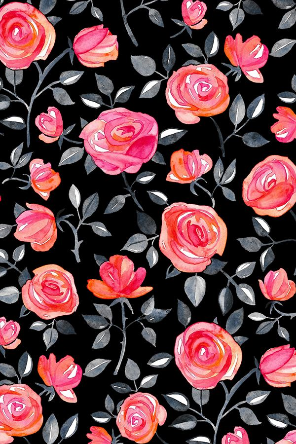 Roses On Black By Micklyn Black Background With Hand