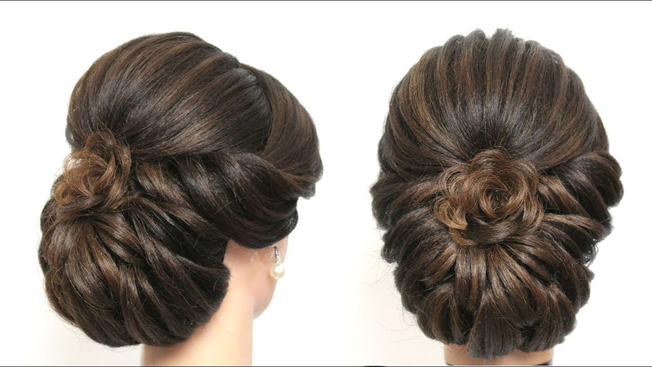 Watch The Best Youtube Videos Online Beautiful Half Up Half Down Hairstyle Inspiration By Amazing Bridesmaid Hairdo Medium Hair Styles Half Up Half Down Hair