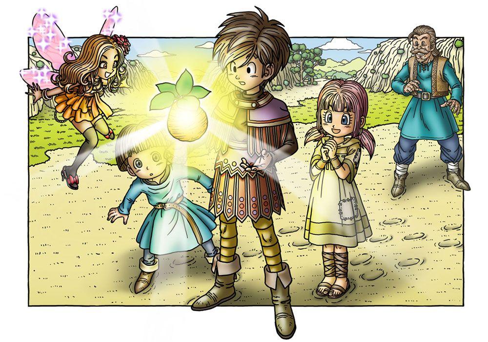 Promotional Illustration Characters Art Dragon Quest Ix Dragon Quest Dragon Dragon Warrior