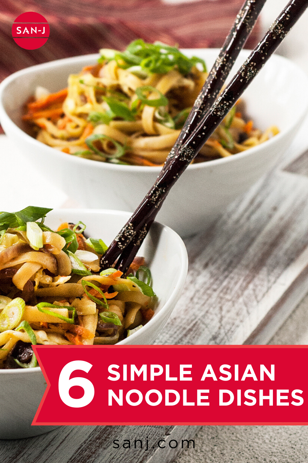 Asian noodle dishes aren't always complicated! Try one of these surprisingly simple Asian noodle recipes for a perfect weeknight dinner! #AsianNoodles #EasyRecipes #QuickDinner