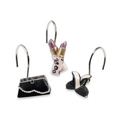 Dressed To Thrill Shower Curtain Hooks Set Of 12