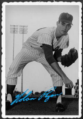 1969 Topps Deckle Edge Nolan Ryan New York Mets Baseball Cards