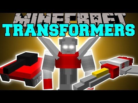 minecraft transformers mod robot tanks planes and cars mod