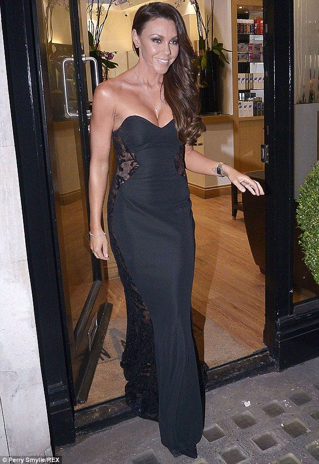 Michelle Heaton ready for the NTA2015 wearing a show stopping Pia Michi dress available in store now