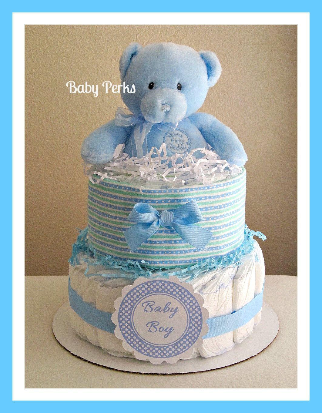 Baby Boy Diaper Cakes Baby Boy Diaper Cake By Msperks On Etsy Baby Diaper Cake Boy Baby Diaper Cake Diaper Cake Boy