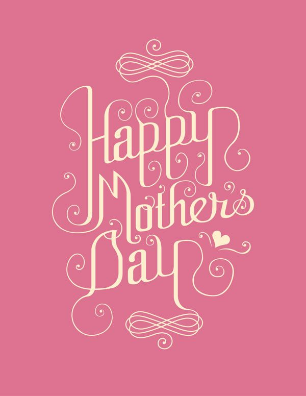 Pink Hy Mothers Day Card Design