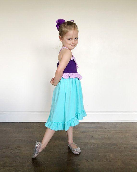 c8d3799006962 Ariel little mermaid dress everyday princess costume dress cosplay ...