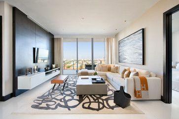 Apogee  Contemporary  Family Room  Miami  Sojo Design  For Custom Living Room Miami 2018