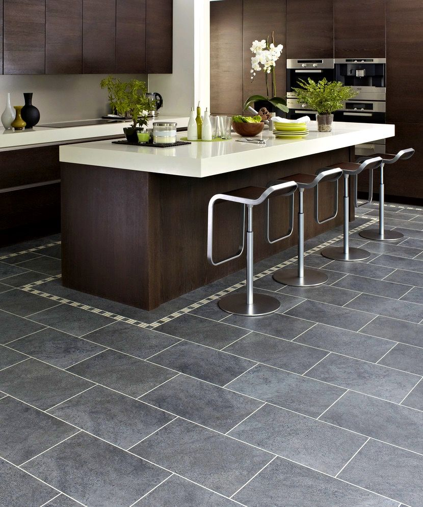 Bathroom:Delightful Dark Grey Kitchen Floor Tiles