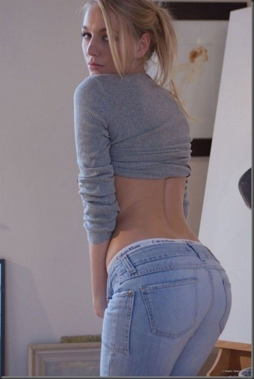 girl Amateur skinny blonde