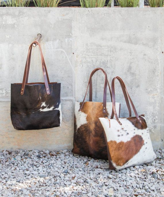 Leather Cowhide Tote