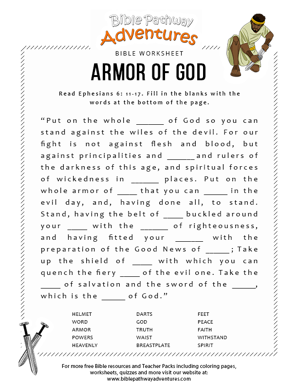 Armor Of God Bible Worksheet Sunday School Pinterest Sunday Printable Israel Worksheets Enjoy Our Printable Bible Worksheet Armor God Fun For Kids To Print And Learn More About The Bible Free Sunday School And Homeschool Bible Activities