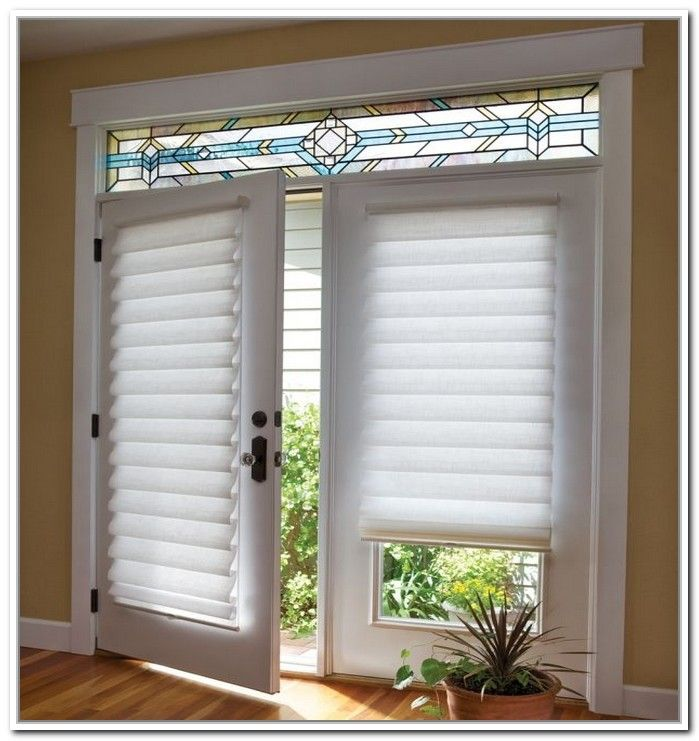 Best window treatments for french doors related with for Window cover for home