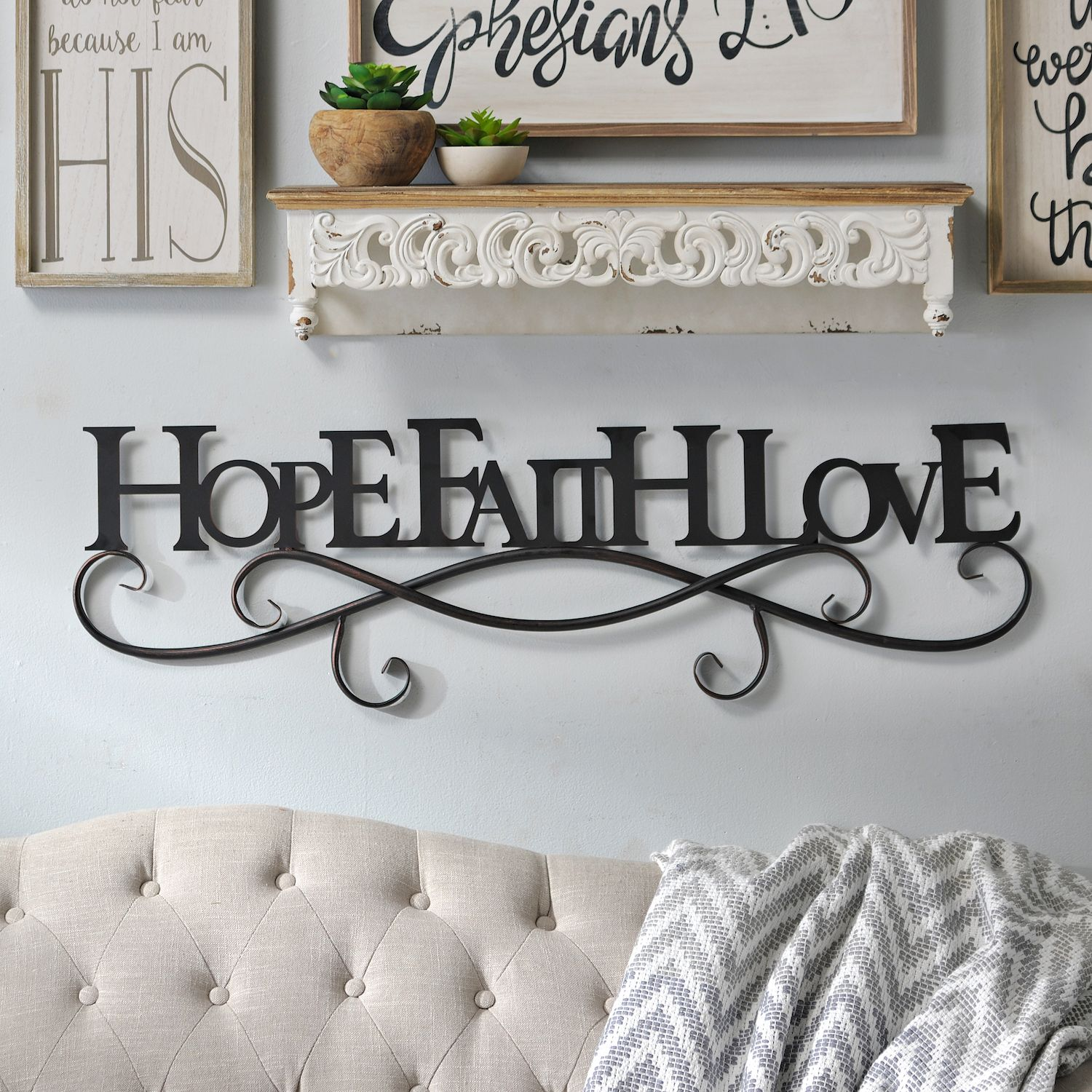 Kick Off The New Year With Words To Live By Black Hope Faith Love Metal Plaque Is Now 19 98 Through 12 31 At Kirkland S
