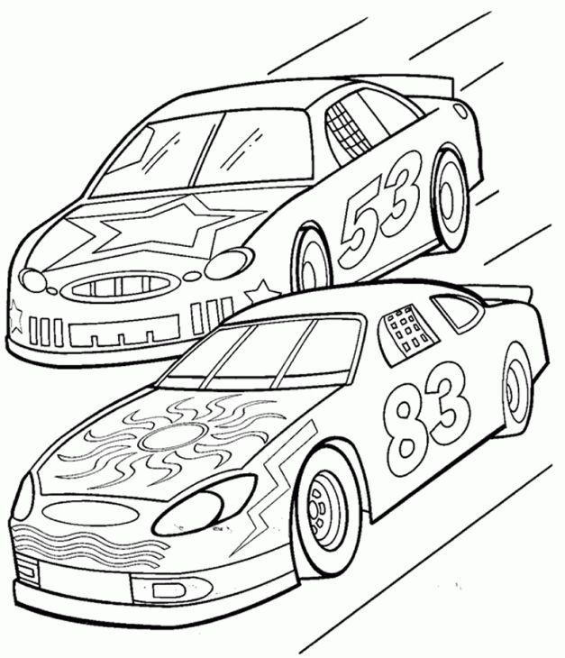 nascar printable coloring pages - photo#25