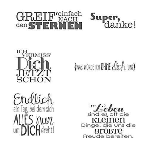 Deutscher transparenter klarer Silikonstempel//Siegel f/ür DIY Scrapbooking//Fotoalbum Dekorative klare Briefmarkenbogen A988