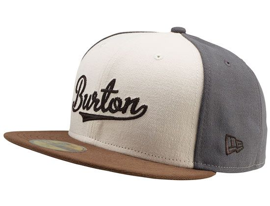 Smoked Pearl Penalty Box 59Fity Fitted Cap by BURTON x NEW ERA Gorra New  Era ae9b006bdd1
