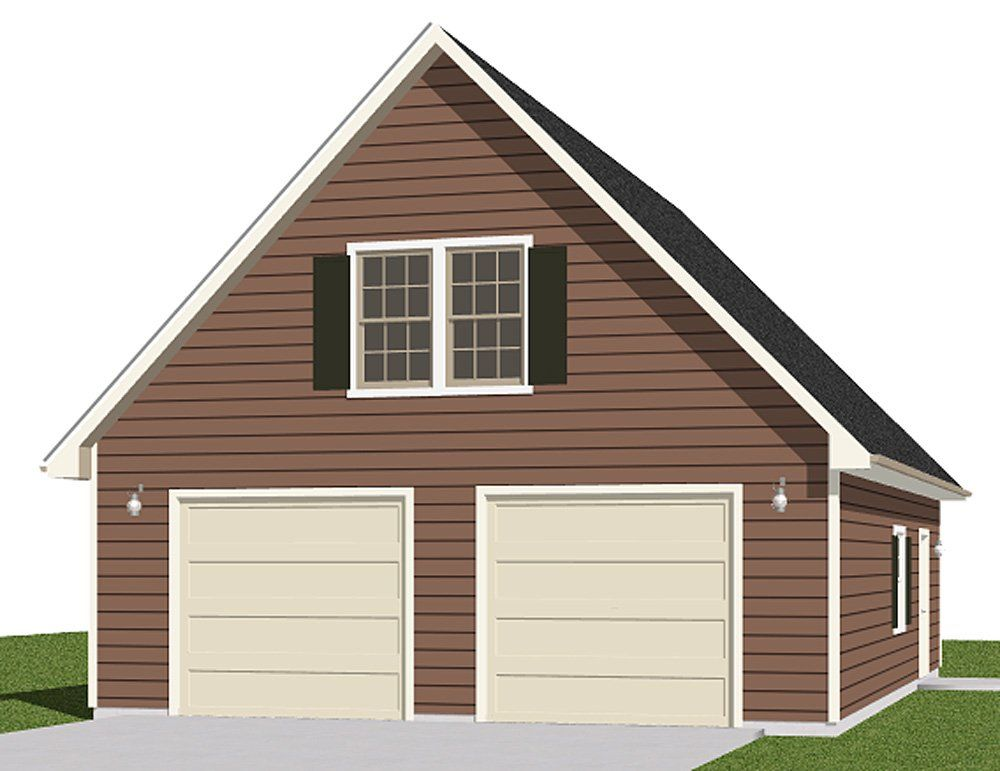 Garage Plans Two Car Garage With Loft Plan 14763
