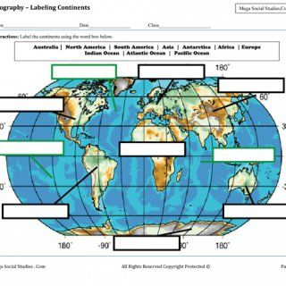 Learn The Continents And Oceans At Any Grade Age Labeling