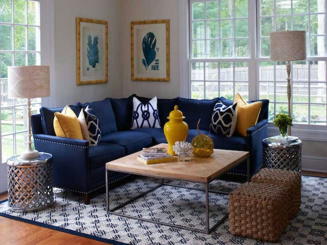 Image Result For Gray Navy Yellow Living Room Blue Living Room Decor Blue Sofas Living Room Blue And Yellow Living Room