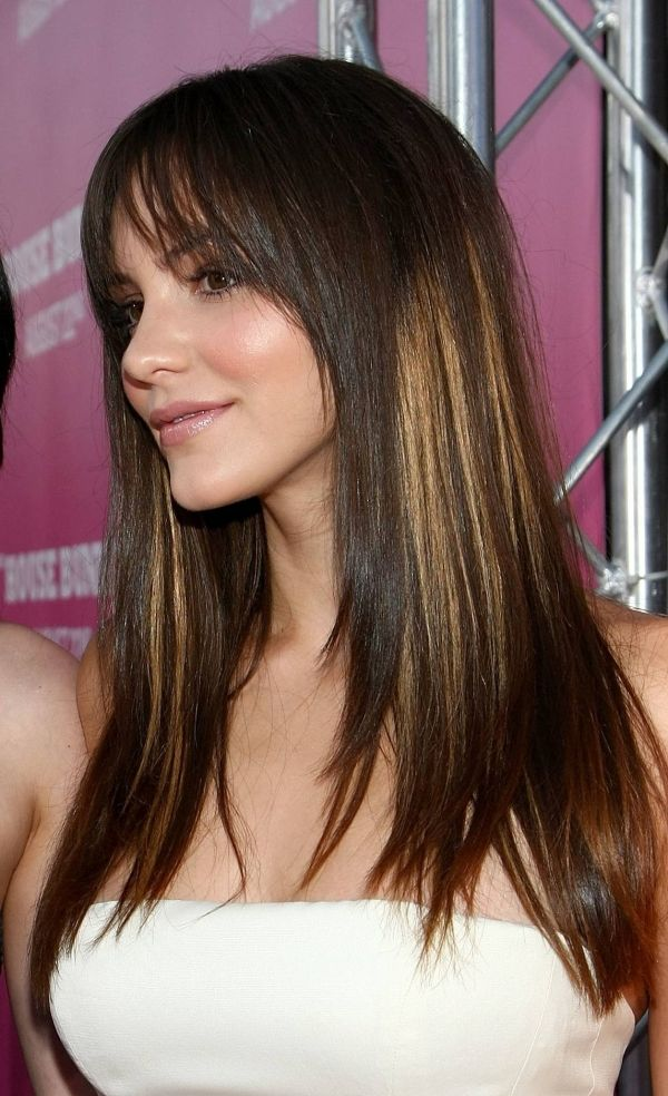 dark hair with highlights | Blonde Shades Highlight | Pinterest ...