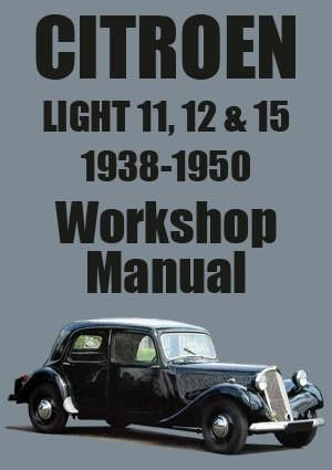 citroen, light 11, light 12, light 15, traction avant, workshop manual