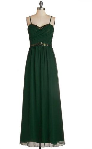 ModCloth Chi Chi Receiving Line Dress in Emerald on shopstyle.com ...