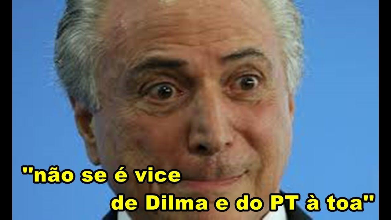 Jornalista ARRASA Michel Temer ''não se é vice de Dilma e do PT à toa
