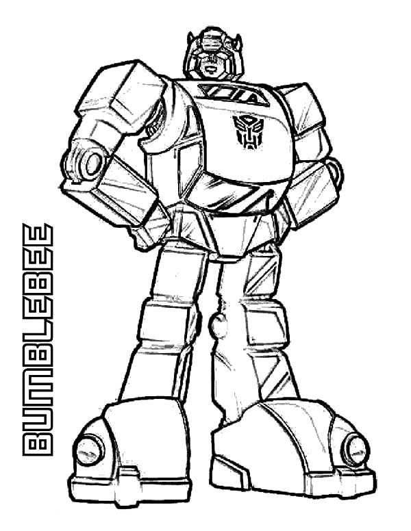 Dibujos Para Colorear Robot Transformers Dibujo De