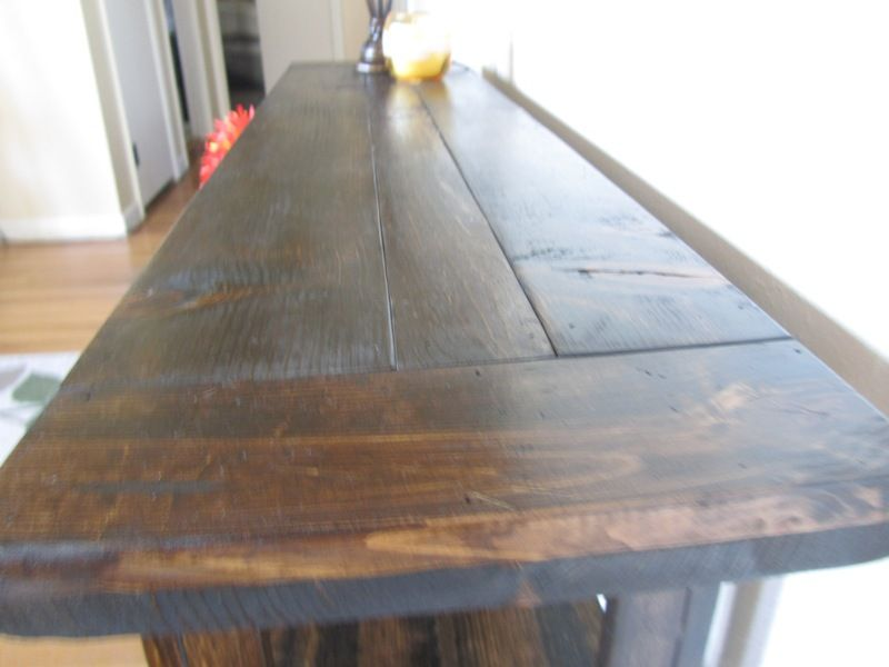 modified simple cheap console table do it yourself home projects from ana white - Cheap Console Tables