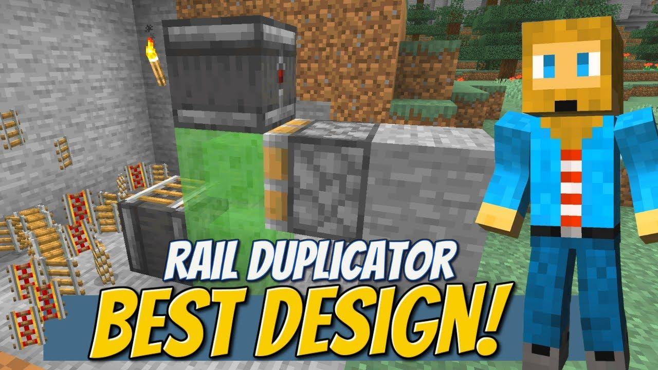 UNLIMITED Rails [Glitch]! Minecraft Rail Duplicator How To