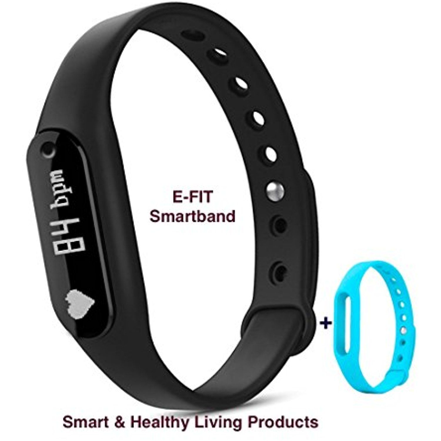E Fit New Smart Band Heart Rate Monitor Step Tracker Pedometer