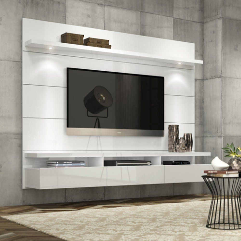 Living Room Media Furniture Manhattan Comfort Cabrini Theater Floating Entertainment Center