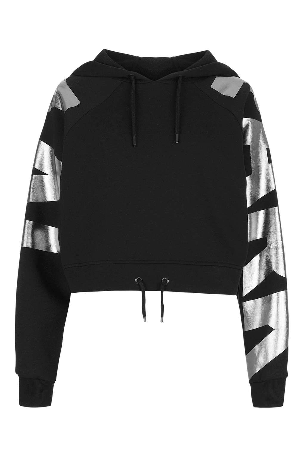 Logo Sleeve Cropped Hoodie by Ivy Park - Tops - Clothing | Ivy ...