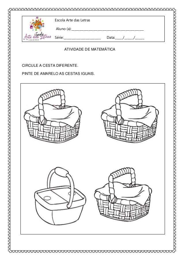 Atividade Do Maternal Prontas Para Imprimir Com Imagens