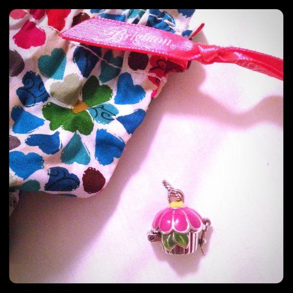 Brighton Charm for bracelet Cupcake charm for bracelet, brand new with Brighton bag. Brighton Jewelry Bracelets