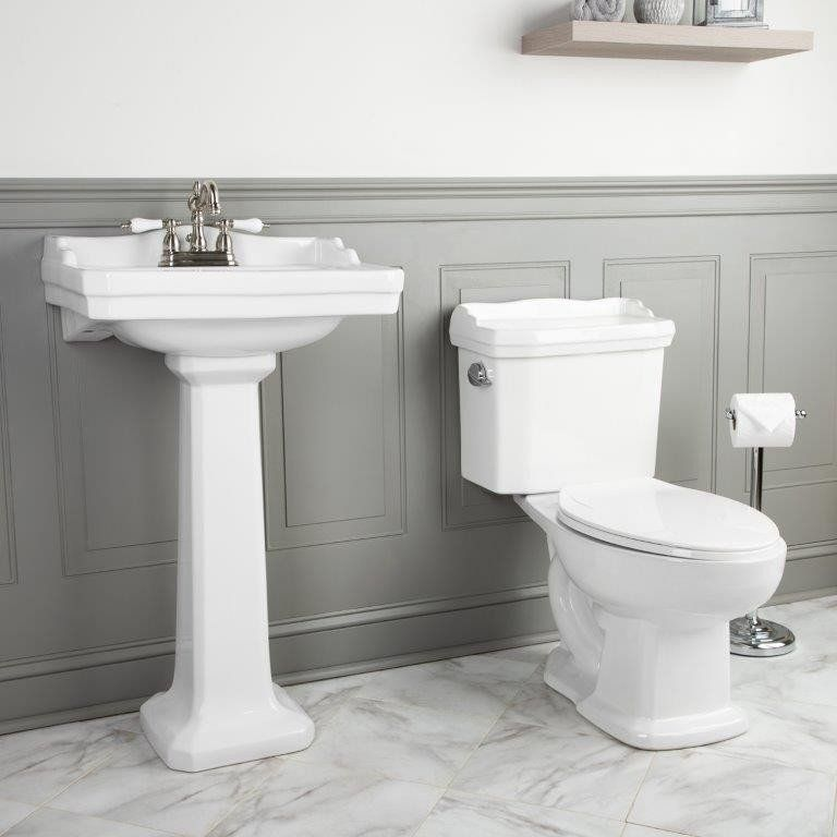 Bundle And Save With Our Pedestal Sink And Toilet Packages This
