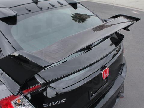 3cc6542d66d7 Honda Carbon Rear Tailgate Spoiler Kit - 2017+ Civic Type-R (FK8 ...
